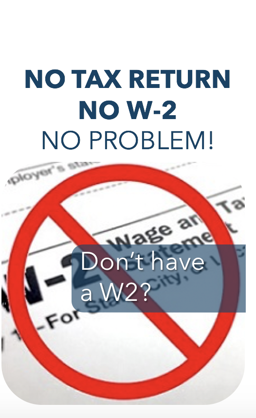 Don't have a W2?