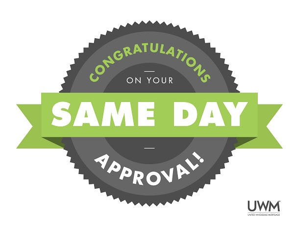 UWM Same Day Approval