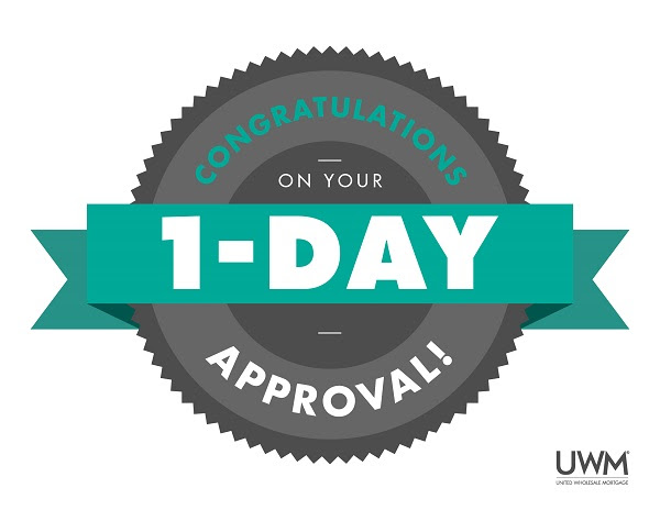 UWM 1 Day Approval