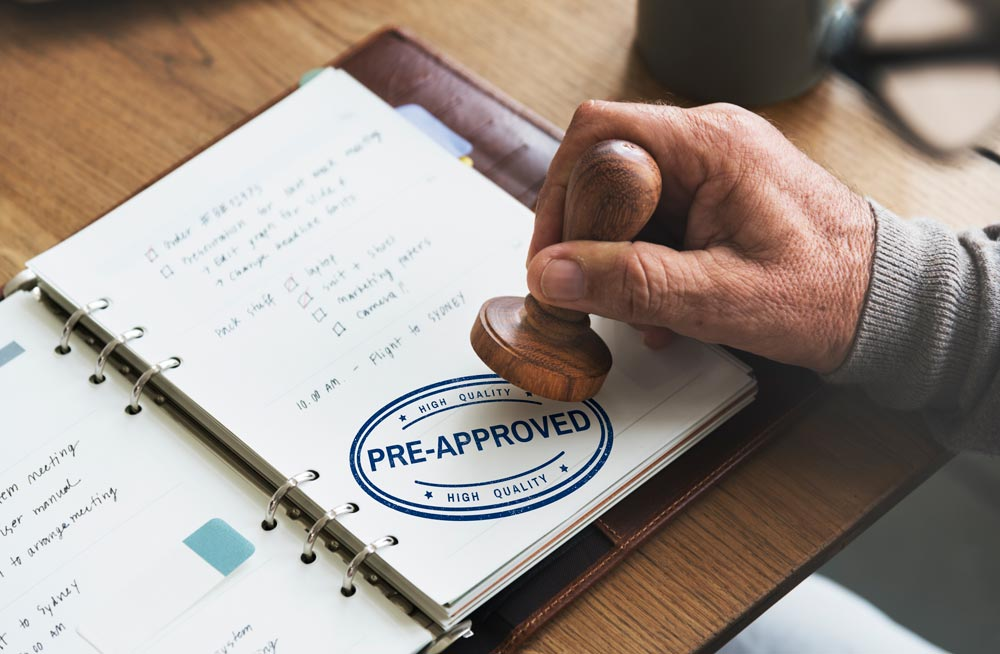 What is the process for getting Pre-approved for a mortgage?