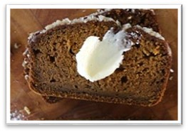 Recipe of the Quarter: Pumpkin Bread w/Macadamia Nut Topping