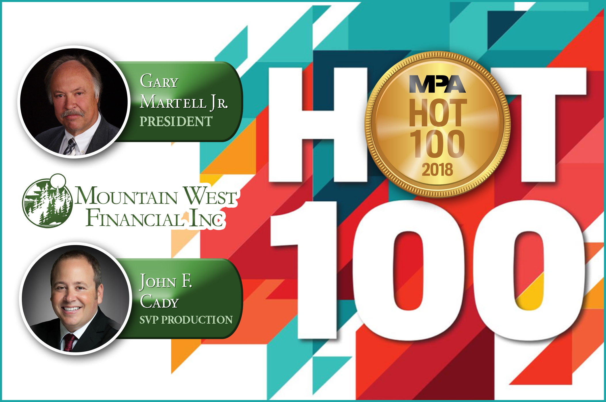 Mountain West Financial Executives Win National Hot 100 Award