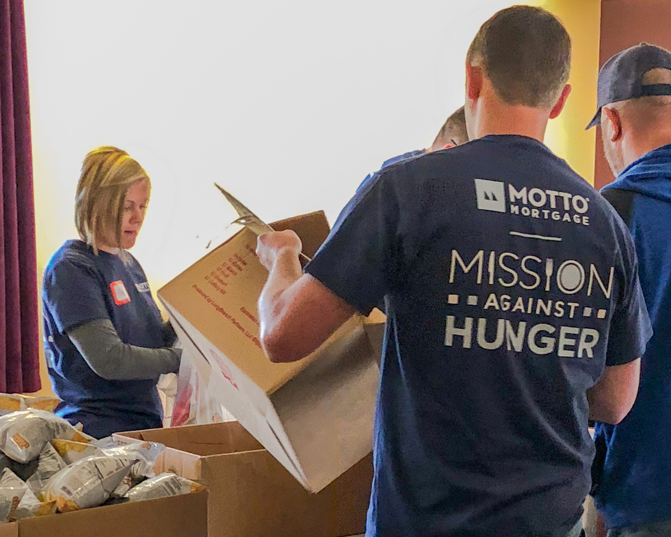 mission against hunger Mottto Mortgage team