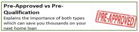 Pre-Approved vs Pre-Qualification