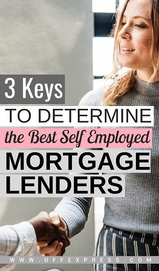 Determining best self employed mortgage lenders in US