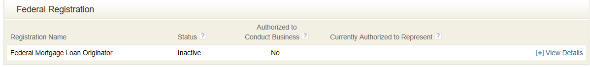 Federal Registration image for NMLS