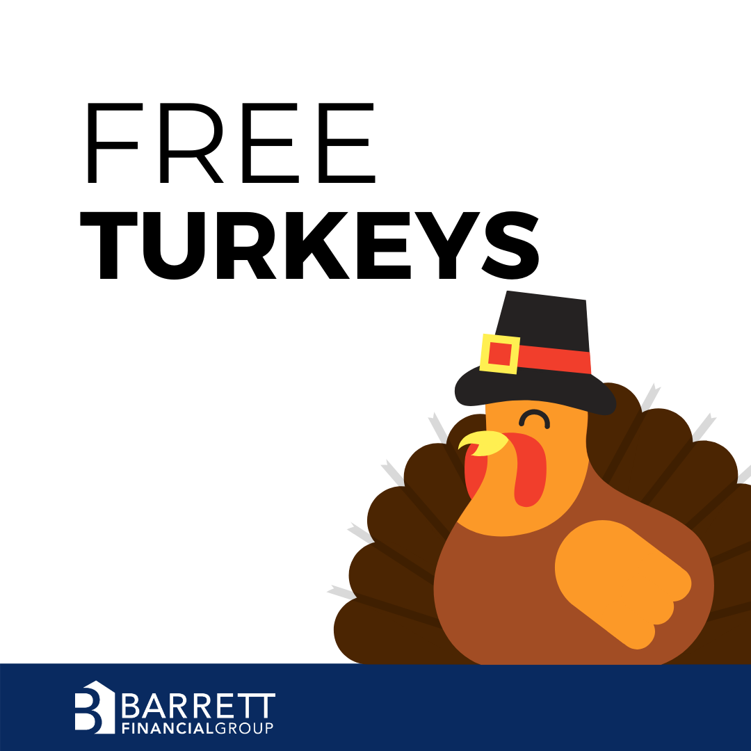 Barrett Financial Group Hosting Free Turkey Giveaway on Saturday